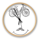 Happy Bicycle Clock by Budi Kwan