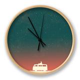 Quiet Night Starry Sky Clock by Budi Kwan