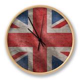 Grunge Rugged Uk Flag Clock by  Hannuviitanen