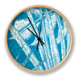 Damask Palms IV Clock by  Vision Studio