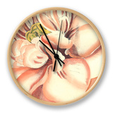 Flower Power IV Clock by Bookman Deborah
