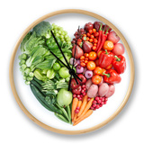 Green And Red Healthy Food Horloge par  ifong
