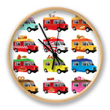 Food Truck Clock by Artisticco LLC