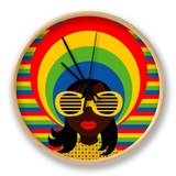 Retro Style Girl With Sunglasses Clock by  UltraPop