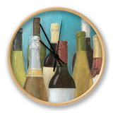 Wine Bottles II Clock by Megan Meagher