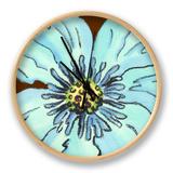 Petal Poetry IV Clock by Slocum Nancy