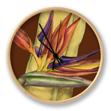 Striking Tropical I Clock by Jennifer Goldberger