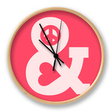 Peace and Love Pink Clock by Budi Kwan