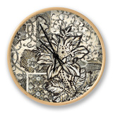Graphic Chintz I Clock