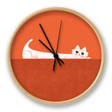 Super Cat Superpower Superstrech Clock by Budi Kwan