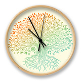 Beautiful Vintage Hand Drawn Tree Of Life Clock by  transiastock