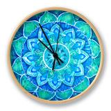 shooarts - Abstract Blue Painted Picture with Circle Pattern, Mandala of Vishuddha Chakra - Saat