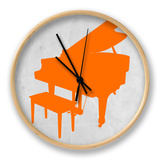 Orange Piano Clock by  NaxArt
