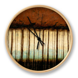 Autumnal Abstract IV Clock by Jennifer Goldberger