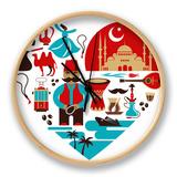 Turkey - Heart Uhr von  Marish