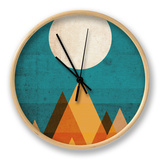 Moon on Sahara Clock by Budi Kwan