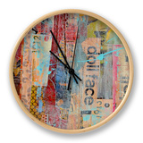 Metro Mix II Clock by Erin Ashley