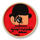Magritte's Clockwork Apple Clock by Budi Kwan