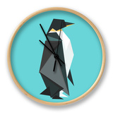 Fractal Geometric Emperor Penguin Clock by Budi Kwan
