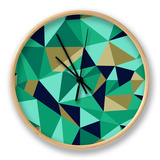 Trendy Abstract Geometric Seamless Pattern Clock by  cienpies