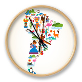 South America Love Clock by  Marish