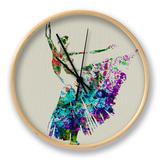Ballerina Watercolor 5 Clock by  NaxArt