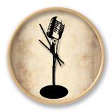 Vintage Microphone Klok van  NaxArt