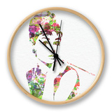 Audrey Hepburn 2 Clock by  NaxArt