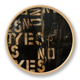 Yes, No, Maybe Clock by Erin Ashley