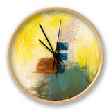 Aquamarine Aura IV Clock