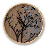 Branch in Silhouette I Clock