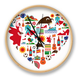 Spain Love Clock by  Marish