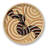 Aboriginal Abstract Art Clock by  Piccola