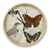 Cartouche and Wings IV Clock by Jennifer Goldberger