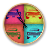 Chevy Camaro Pop Art 1 Clock by  NaxArt