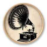 Gramophone 1 Clock by  NaxArt