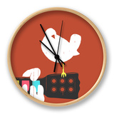 Game on Woodstock Clock by Budi Kwan