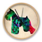 Miniature Schnauzer Poster Clock by  NaxArt