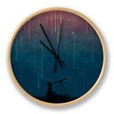 Meteor Rain Clock by Budi Kwan