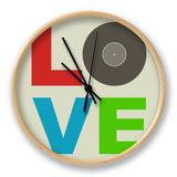 Love Poster Uhr von  NaxArt
