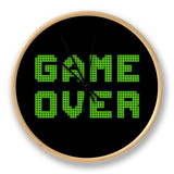 Game Over On A Green Grid Digital Display Orologio di  wongstock