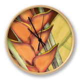 Striking Tropical IV Clock by Jennifer Goldberger