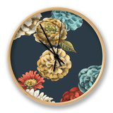 Small Floating Garden I Clock by Chariklia Zarris