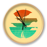 Go West (Sailing Boat) Clock by Budi Kwan