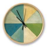 Quilted Abstract I Clock by Megan Meagher