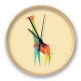 Fractal Geometric Giraffe Clock by Budi Kwan