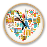 Pars Love - With Set Of Icons Clock by  Marish