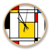 Seamless Abstract Geometric Colorful For Continuous Replicate Clock by  alexfiodorov