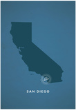You Are Here San Diego Poster