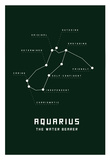 Astrology Chart Aquarius Print
